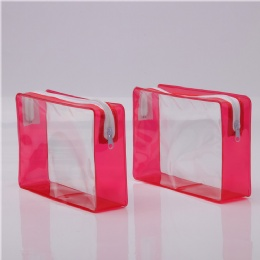 Zip lock pvc bag/pouches plastic packing bag with bottom gusset