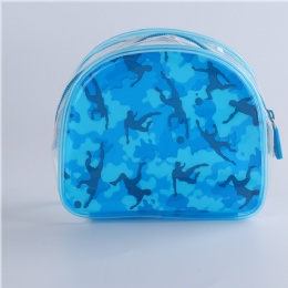 China manufacture cheap PVC transparent toilet bag with  piping