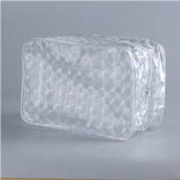 China PVC plastic packaging bag with piping,transparent PVC