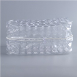 Transparent PVC packaging zipper bag with plastic piping